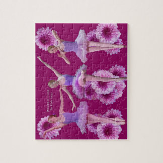 Ballerina and Pink Mums Jigsaw Puzzle