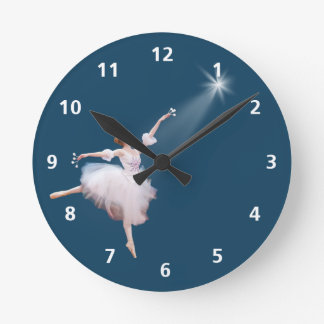 Ballerina and Star Customizable Clock