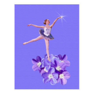 Ballerina and Violets Customizable Postcard