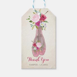 Ballerina Baby Shower Favour Tag Pack Of Gift Tags