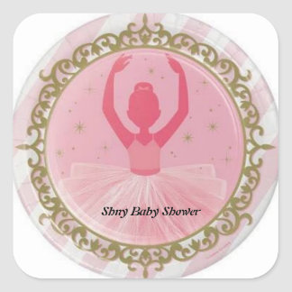 Ballerina Baby Shower Sticker
