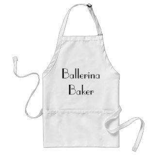 Ballerina Baker Quirky White & Black Apron