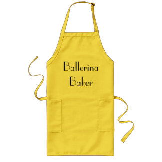 Ballerina Baker Quirky Yellow & Black Long Apron