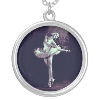 Ballerina Ballet Art Image Pendant Photo Jewelry
