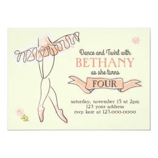 Ballerina/Ballet Party Invitation