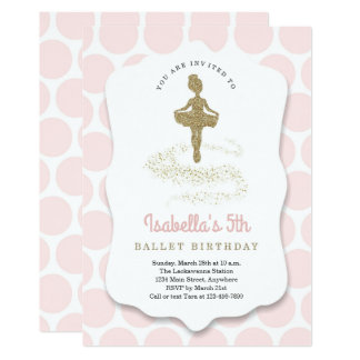 Ballerina / Ballet Themed for Girls Birthday Party Card