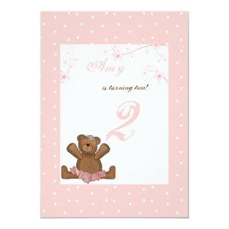 Ballerina Bear Birthday Invitation
