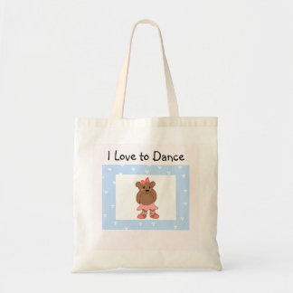 Ballerina Bear - I Love to Dance Tote Bag