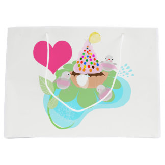 Ballerina birds with muffin and birds gift bag