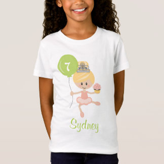 Ballerina Birthday Shirt Blonde