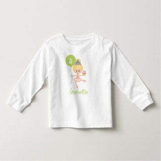 Ballerina Birthday Toddler T-shirt Blonde