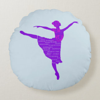 Ballerina  Brushed Polyester Round throw cushion