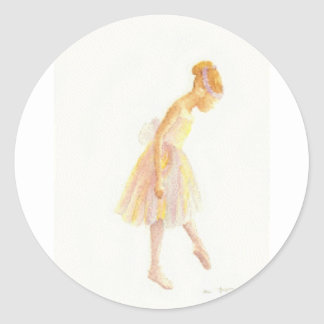 Ballerina Classic Round Sticker