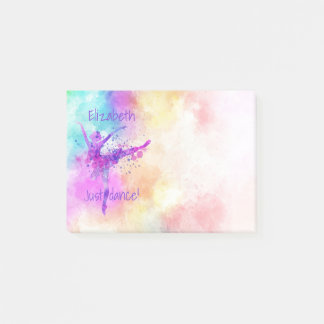 Ballerina Colourful Watercolor Just Dance Post-it Notes