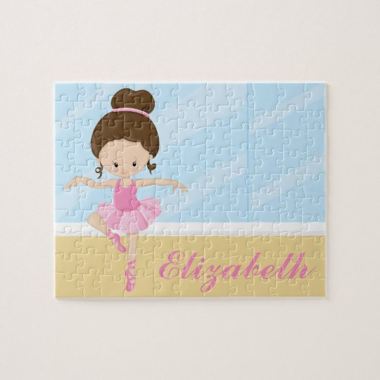 Ballerina Custom Personalized Name Puzzle