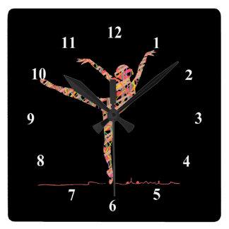 Ballerina cute girl dancing ballet clocks
