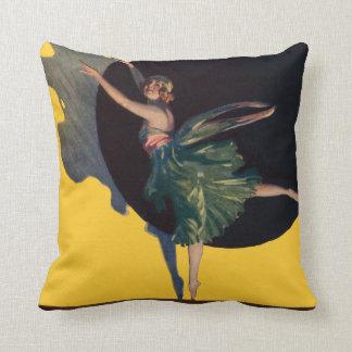 Ballerina Dance Tutu Costume Dress Vintage Throw Pillow
