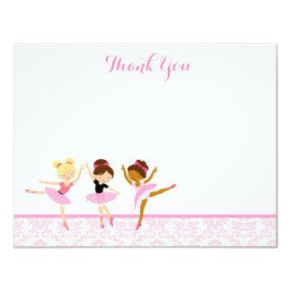 Ballerina Dancer Birthday Thank You Notes Card