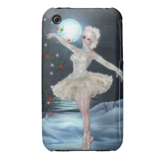 Ballerina Dancer Girl :: Fantasy Christmas iPhone 3 Cover