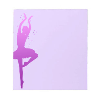 Ballerina dancer notepad