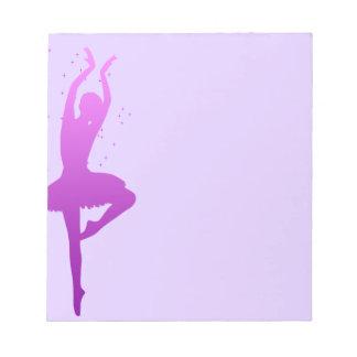 Ballerina dancer notepads