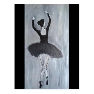 BALLERINA DANCER POSTCARD