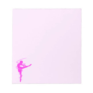 Ballerina dancer with glow effect notepad