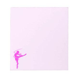 Ballerina dancer with glow effect notepads