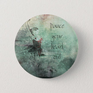 Ballerina Dancing Her Heart Out 2 Inch Round Button