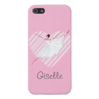 Ballerina dancing in Pink Stripes - Castomizable Cover For iPhone 5/5S