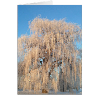 Ballerina Dancing Under Willow Tree Card