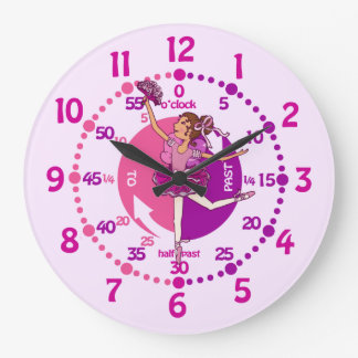 Ballerina dark hair girl ballet wall clock