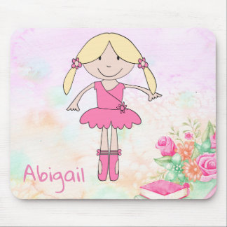 BALLERINA DOLL. CUTE TINY DANCER + BALLET SLIPPERS MOUSE PAD
