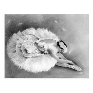 Ballerina Dying Swan Postcard