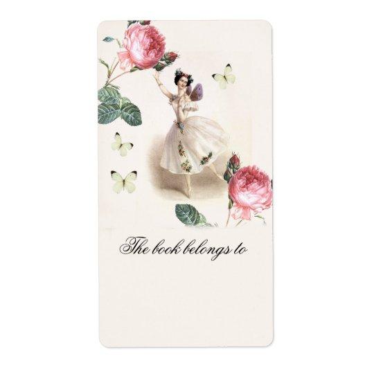 Ballerina Fairy   Bookplate Shipping Label