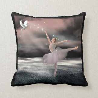 Ballerina - Fantasy Throw Pillow