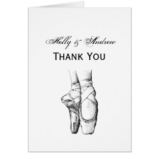 Ballerina Feet on Pointe #1 Card