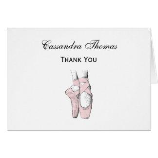 Ballerina Feet on Pointe #1 Lt Pink Card
