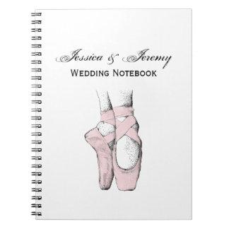 Ballerina Feet on Pointe #1 Lt Pink Spiral Notebook
