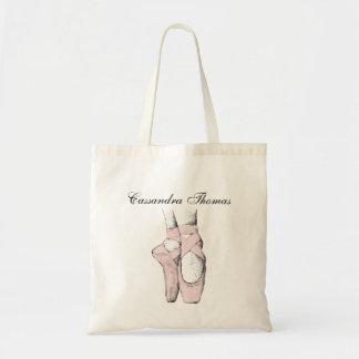 Ballerina Feet on Pointe #1 Lt Pink Tote Bag