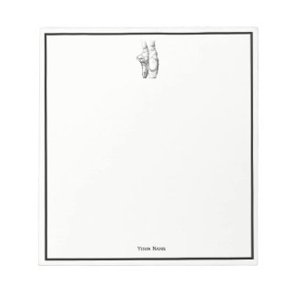 Ballerina Feet on Pointe #1 Notepad