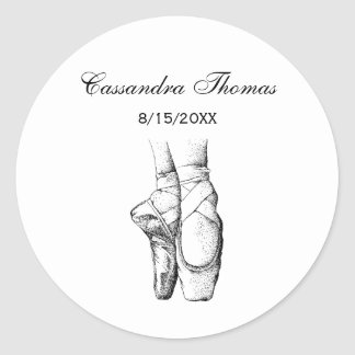 Ballerina Feet on Pointe #1 Round Sticker