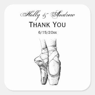 Ballerina Feet on Pointe #1 Square Sticker