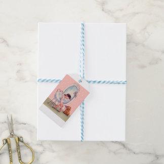 Ballerina Gift Wrap Gift Tags