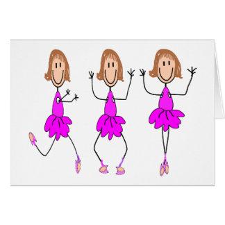 Ballerina Gifts--Adorable Greeting Card