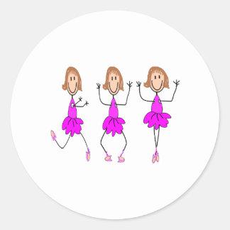 Ballerina Gifts--Adorable Round Sticker
