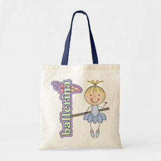 Ballerina Girl Blue Tote Bag