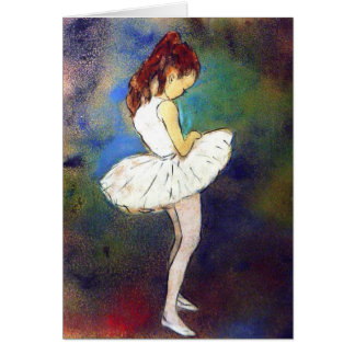 Ballerina Girl Card