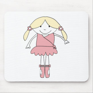 Ballerina Girl Mouse Pad
