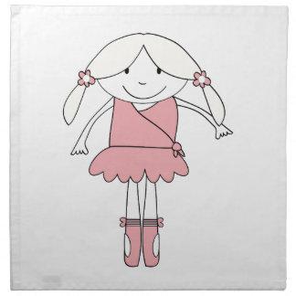 Ballerina Girl Napkin